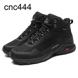 Men Snow Anti-Slip Boots Winter Warm Fur Lined Ankle Booties Waterproof Hiking Shoes for Outdoor Activities