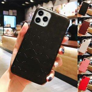 Cas de téléphone concepteur pour iPhone 12 Mini 11 PRO Max XS XR x 8 7 Plus la mode G Mentions légères Protéger la couverture arrière de la marque Samsung S20 S21 Note 20