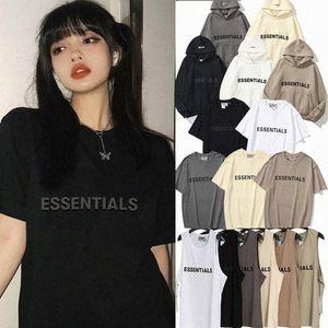 2021 MENS Femmes Sweats à capuche en plein air T-shirts Loisirs mode réfléchissant manches courtes Tendances Peur de Dieu Fog Essentials Femmes Designer hommes gilet