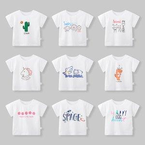 0-6 years old cotton children's short sleeve T-shirt Girls Summer baby boy's topKPIB30GO