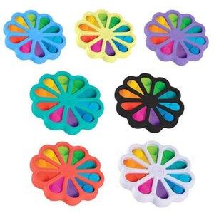 2021 Fidget Toys Finger Bubble Floral Press Relief Fingertip Toy Stress Educational Kids Baby Gift Squeeze Sensor fy