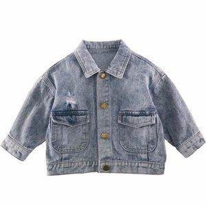 Vest 2021 Baby Girls Denim Jacket For Children Spring Clothes Kids Vintage Outwear Boys Pocket Tops Coat Windbreaker