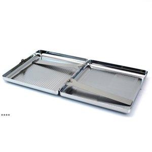 Metal Cigarette Case Embossed Cigarettes Box Stainless Steel 95*87MM 20pcs Regular Boxes Tobacco Holder NHF8912