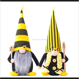 Other Festive & Supplies Party Decoration Nordic Bumble Bee Striped Gnome Lemon Faceless Doll Tree Hanging Ornament Decorative Plush T Uthzc