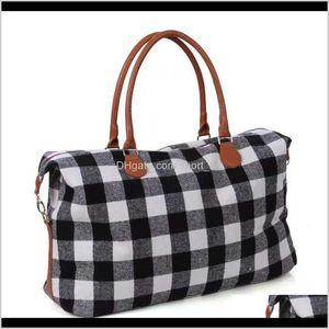 Buffalo Handbag Red And White Design Duffle Plaid Weekender Bag Check Overnight Storage Bags Ooa6384 Gghc8 Oq8Ih