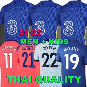 CFC 20 21 22 soccer jerseys blue HOME GIROUD ABRAHAM WERNER HAVERTZ CHILWELL ZIYECH Zouma football shirt PULISIC Camiseta KANTE MOUNT 2020 2021 Men + Kids kit JORGINHO