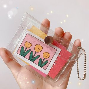 Transparent Holder Women Card Case Organizer Wallet Fashion Clear PVC Passport Cards Cover Coin Purse Storage Bags