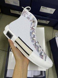 حار بيع مصمم أحذية عالية الأعلى منحرف أحذية رياضية الرجال النساء الدانتيل متابعة عارضة الأحذية عداء المدربين الأبيض الأسود المطاط الوحيد الرجال BW 234 الأحذية