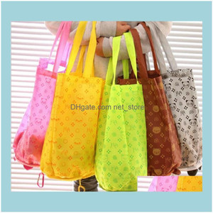 Bags Bags, Lage & Aessories100Pcs Pcs Cute Frog Duck Pig Cartoon Eco Shopping Bag Reusable Eco-Friendly Foldable Hasp Totes Drop Delivery 20