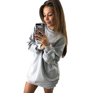New Women Hoodie Sweatshirt Casual O -Neck Loose Oversized Hoodie Dress Autumn Long Sleeve Hoodies Sweatshirts Sweat Femme S -Xl