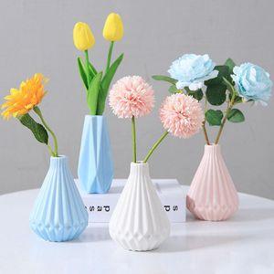 Vasos Simplicidade Nordic Vaso Cerâmico Mini Flor Home Office Decoração Seco Hidroponia Pografia Sala