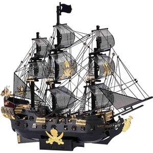 Children's puzzle, military pirate ship assembly kit, laser cutting 3D DIY metal model, children's toysQQ8B
