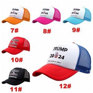 Donald Trump 2024 Baseball Cap US President Election Hats Keep America Great Mesh Snapbacks Summer Visor Caps Party Hat by sea FWD10538
