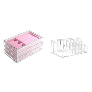 Bathroom Storage & Organization Acrylic Clear Makeup Organizer Boxes Make Up For Cosmetics Jewelry Cabinet Box Home Drawers