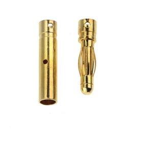 100Pair 4mm Gold-Plated Bullet Banana Socket Male Female Banana Connector Model Battery Plug