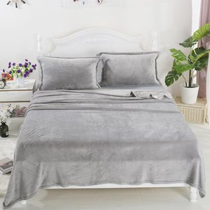 Thicken Plus Velvet Super Warm Bed Sheet Bedding Flannel Cold Winter Necessary Bedspread Sheet ( Not Including Pillowcase ) F027 210420