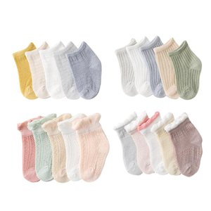 Pairs lot 0-5Y Summer Infant Baby CuteLace Socks For Girls Cotton Mesh Cute Born Boys Toddler Clothes Accessorie