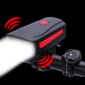 Bicycle Lights USB Charging Bike Horn Light Headlight Cycling Multifunction Ultra Bright Electric 100db Bell