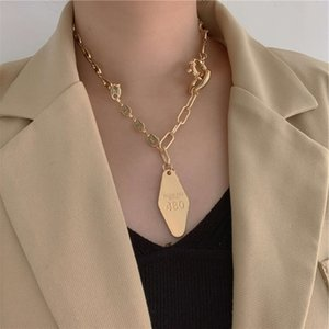 in Wind irregular multi element chain diamond tag clavicle Necklace women's Fashion2021