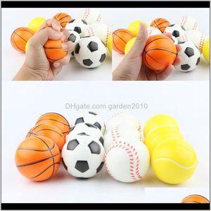 Items Baseball Soccer Basketball Toy Sponge Balls 63Cm Soft Pu Foam Ball Fidget Relief Novelty Sport Toys For Children Gga1868 Yxwcw Yimrq