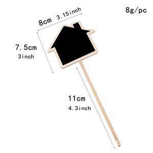Plant Tags Marker Cute Shape Card Insertion Mini Blackboard Woodiness Arts And Crafts Originality Home Furnishing GWE5993