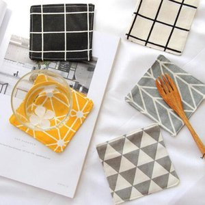 10x10cm Creative Modern Nordic Style Mats Pads Table Mat Cloth Tableware Pad Dinner Decor Coffee Tea Cup Mug Pads DWF6347
