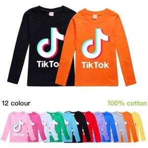 Tik Tok Kids Long Sleeve Round Neck Hoodies Boys Girls Tops Teenager TikTok Sweatshirt Jacket Coat Cotton Children Clothing G40DPMW