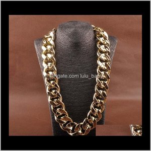 Chains Curb Cuban Link Chain, Auniquestyle Hip Pop Thick Long Necklace Fashion Jewelry Men Big Chunky Vintage Choker Accessories Yskx8 Zle0T