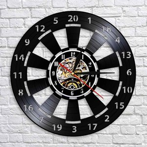 Creative Darts Board Fashion CD Record Clock 3D Ornament Gift Hanging Wall Classic Room Decor Art Watch