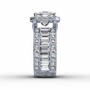 Luxury Vintage Lovers Court ring 3ct Diamond 925 Sterling silver Engagement wedding band ring for women men Finger Jewelry Gift