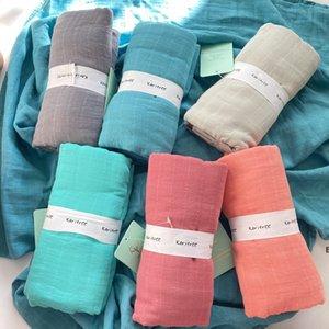 Muslin Blanket 100% Bamboo Cotton Baby Swaddles Soft Bathroom Towels Robes Bath Gauze Infant Wrap sleepsack Stroller cover Play Mat DHC7359