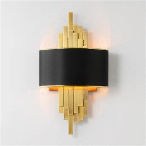 Wall Lamps Metal Pipe Led Gold Black Body Nordic Living Room Bedroom Lights Corridor Sconce Loft Home Decor Luminaire