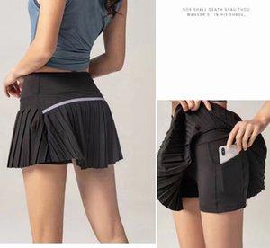 Women 2 In 1 Pleated Skirt Women Running Shorts Gym Fitness Shorts Quick Dry Tennis Sport Women Yoga Shorts Clothes DK09