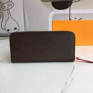 High Quality luxurys designers Woman Fashion Clutch purses Monogrames Clemence long wallet Card Holder Purse With Box Dust Bag