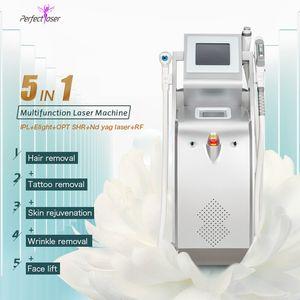 OPT SHR+ IPL+ ELIGHT+ NDYAG+ RF laser Hair removal machine Acne  Pigment  Tattoo  Vascular remove face lift device LLLT Q switch
