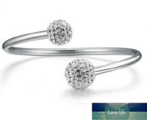 Bangle Ankunft Hohe Qualität Glänzend Shambala Ball 925 Sterling Silber Ladiesadjustable Schmuck Geschenk Fabrik Preis Experten Design Neueste Stil Originalstatus