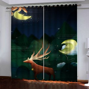 Custom 2021 High Quality Blackout Curtain Abstract animal Photo Curtains For Living Room Bedroom Home Decor