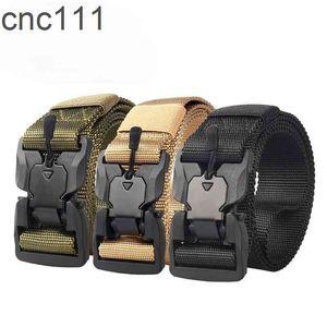 Tactical Magnetic Plastic Buckle Outdoor Sports Nylon Men And Women Unisex Belt Men's Multi-Function Belts 1099-T
