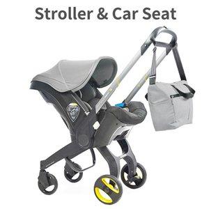 Cochecito de bebé 4 In1 Asiento de coche 0-2 años Born Born Carriage Portátil carrito Carreras de carrito #