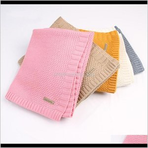 Quilts Baby Blanket Knitted Born Blankets Super Soft Stroller Wrap Infant Swaddle Kids Ikeren Stuff For Monthly Toddler Bedding X8Czd Q3Feb