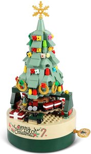 Christmas Tree Building Kits for Kids - DIY Block Music Box, Educational Learning Science Toy 360 PCS