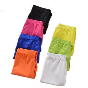 2019 Autumn Girls Leggings Candy Color Kids Pants Children Trousers Girls Bottoming Pants Clothes 283 Z2