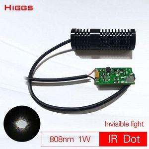 Invisible Light 808nm 1000mw Infrared Dot Laser Module 1W IR Launcher Night Supplementary Illuminator Long-distance Pointer Portable Lantern