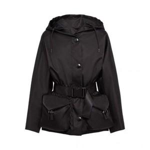 레이디 재킷에 대 한 여자 재킷 가을 봄 스타일 슬림 아웃웨어 테리 품질 코트 벨트 가방 단추와 함께 고전적인 의류 s-l