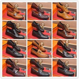 A1 2021 H Бренд Коричневые Мужчины Обувь для обуви Обувь Итальянское Оксфорд Кожаное Платье Sepatu Дизайнер Sapatos Социальные Генты Pria Размер 38-45