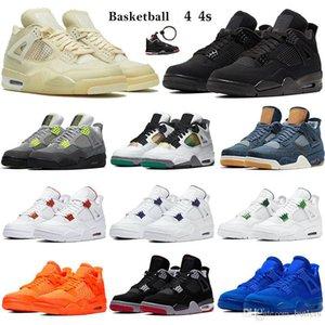 Mejor 4 4s Xwhite Basketaball Shoes White XSAIL SE Neon Black Cat 2020 Hombres Mujeres Zapatillas Zapatillas Zapatillas Metálico Púrpura Denim Game Royal Entrenadores