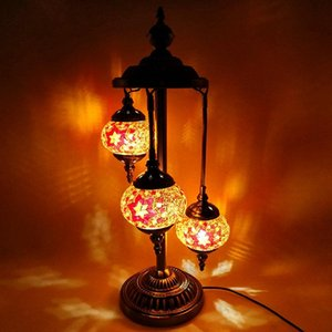 Floor Lamps Artpad Mediterranean Decoration Turkish Mosaic Lamp 3 Lights Stained Glass Lampshade LED Stand Light For Living Room