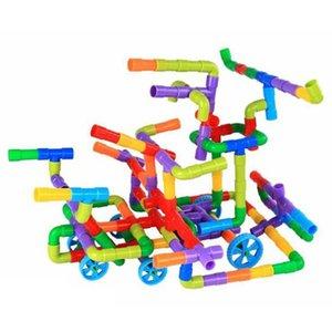 DIY Water Pipe Building Blocks Toys for Children Kids Tunnel Construction Educational STEM Designer Toys Brick for Boy Girl Gift