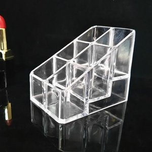 Bathroom Storage & Organization Crystal 9 Grids Rack Box Cosmetics Clear Boxes Transparent Acrylic Lipstick Holder
