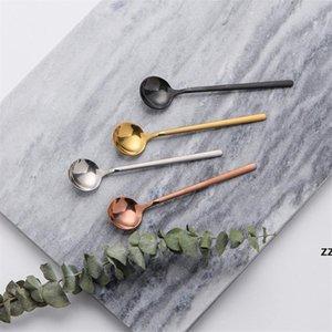 Stainless Steel Spoons 17cm Stirring Round Food Spoons Coffee Scoop Seasoning Spoon Ice Cream Spoons Kitchen Flatware HWD10186